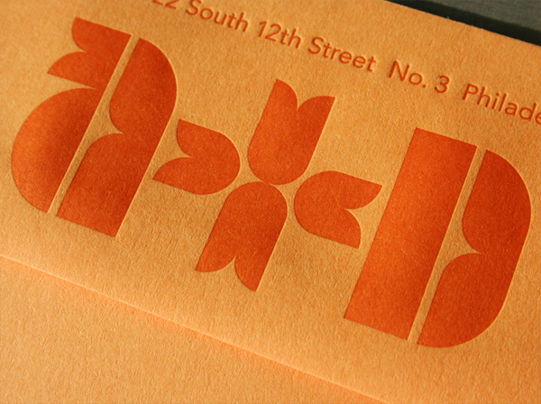 Mid Century Modern Typographic Letterpress Wedding Invitations