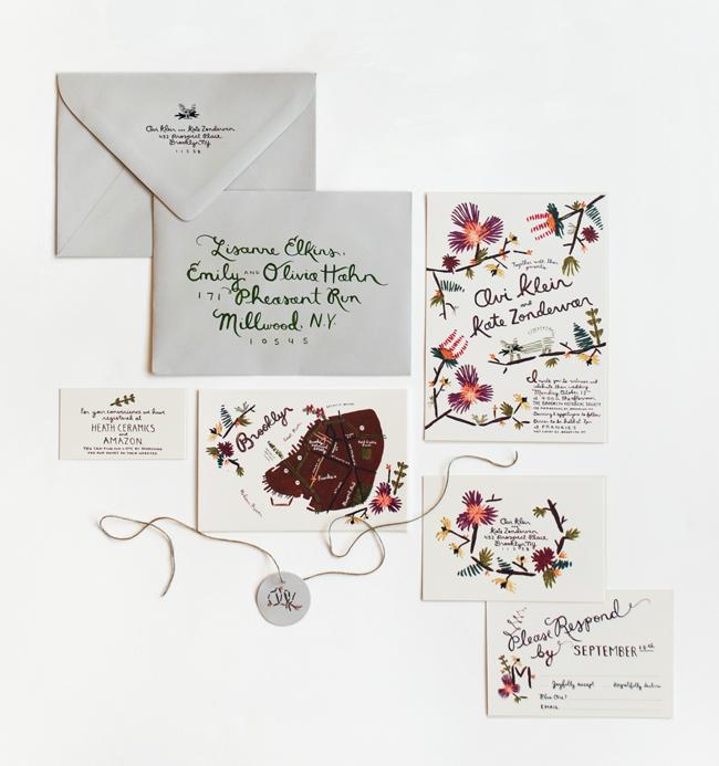 Unique Embroidered Wedding Invitations