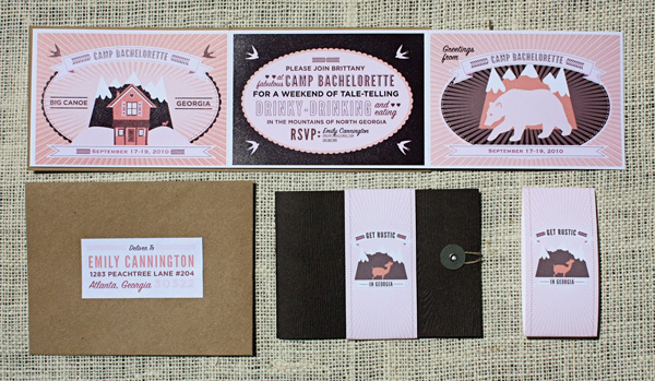 Bachelorette Custom Invitations