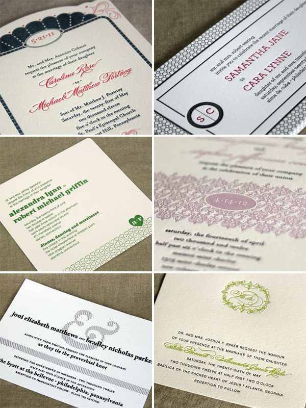 The Claremont Collection Letterpress Wedding Invitations