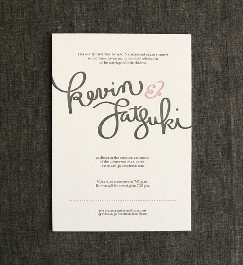 These unique wedding invitations combine the old and the new for a look