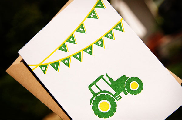 John Deere Green and Yellow Birthday Invitations