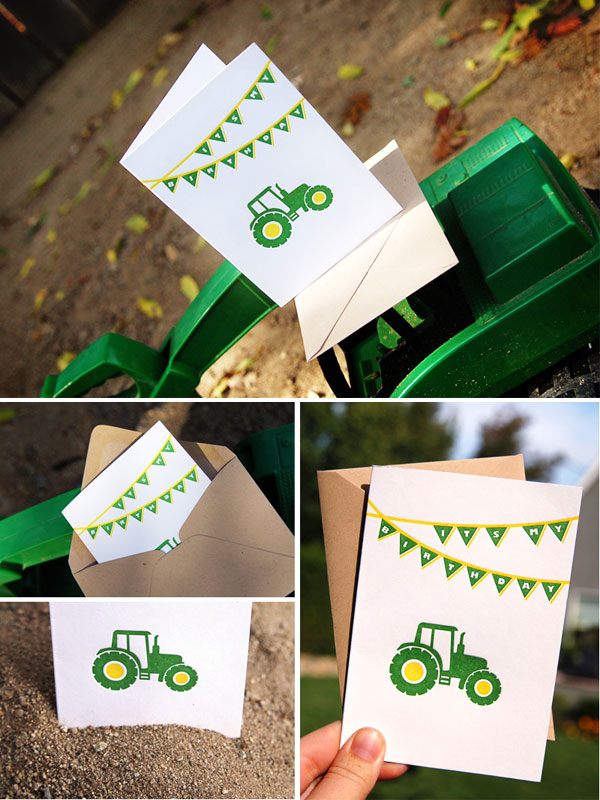 John Deere Tractor Birthday Invitations