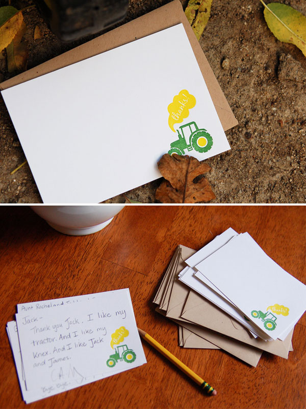 John Deere Tractor Thank You Notes