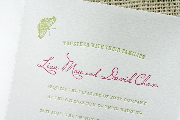 Letterpress Garden Wedding Invitations
