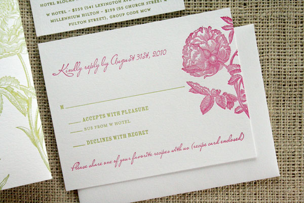 Garden Wedding Invitations: Art Museum Garden Wedding Invitations