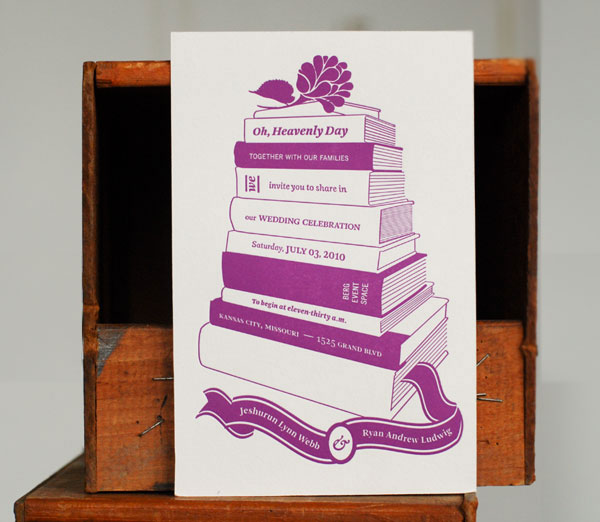 Book Coffee Shop Inspired Wedding Invites