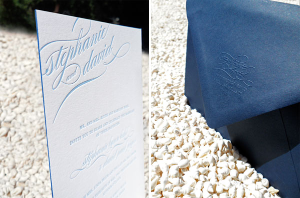 Embossed Envelope Wedding Invitations