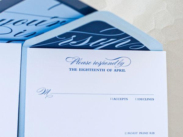 Letterpress RSVP Wedding Card