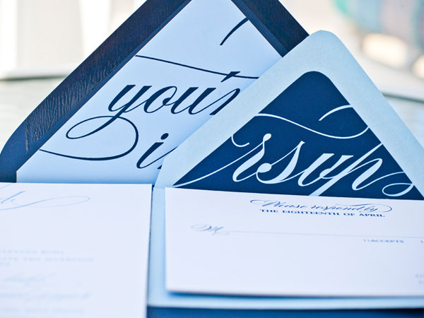 Typography Envelope Liners Wedding