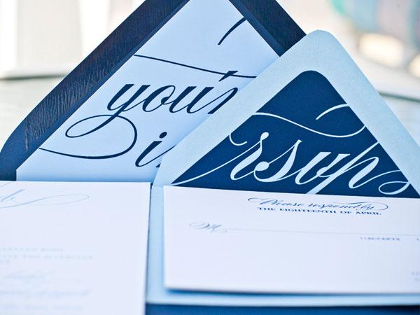 Typography Envelope Liners Wedding