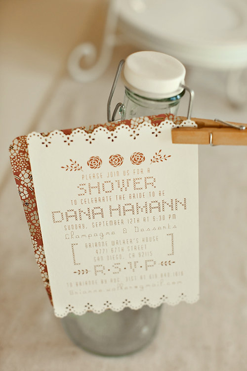 Sweet Handmade Bridal Shower Invitations