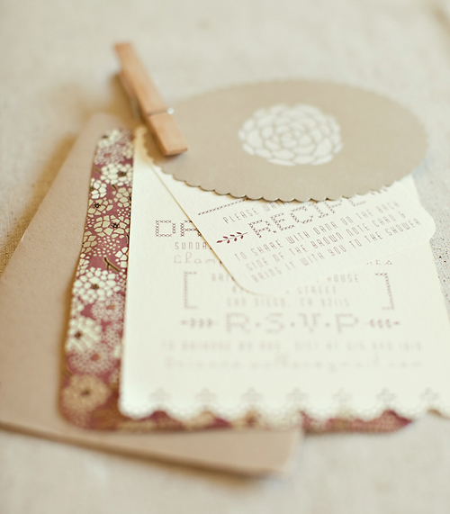 Handmade Bridal Shower Invitations