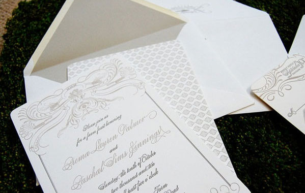 Tennessee Wedding Letterpress Invitations