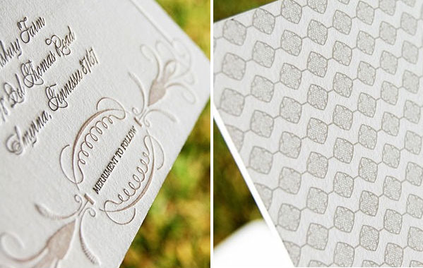 Wiley Valentine Letterpress Wedding Invitations
