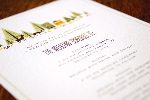 Anna Hurley Woodland Wedding Schedule Cards