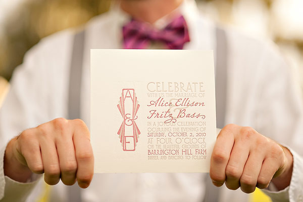 Art Deco Letterpress Wedding Invitations A Fine Press