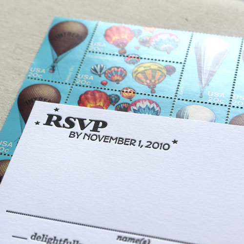 New York City Themed Letterpress Invitations