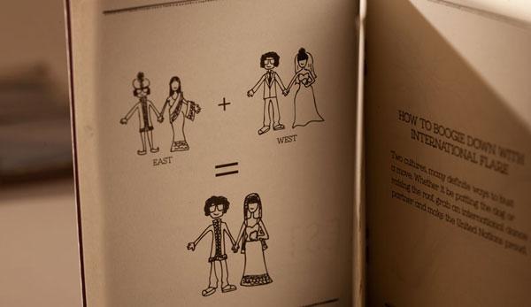 Tejal + Christine Wedding Invites. Booklet Wedding Invitations