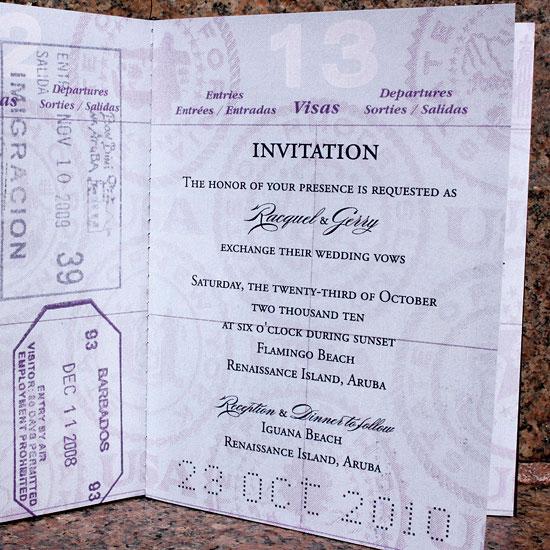 Raquel Gerry 39 S Custom Passport Wedding Invites Invitation Crush