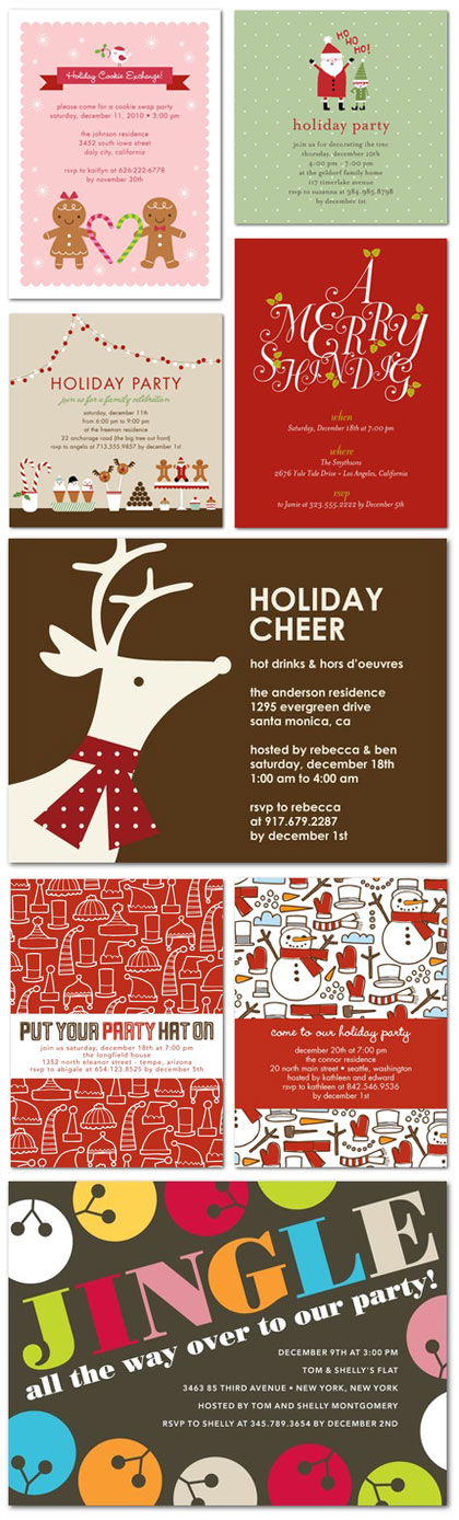 Cute Holiday Party Invitations