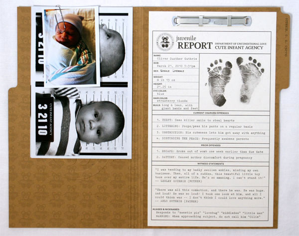 Criminal File Birth Announcements