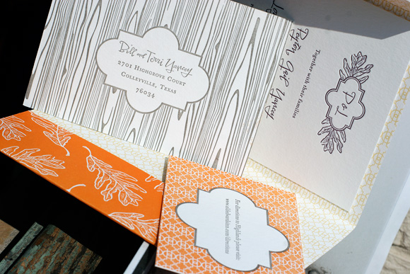 Fall Letterpress Custom Wedding Invites