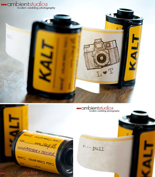 Unique Wedding Invites Film Canister