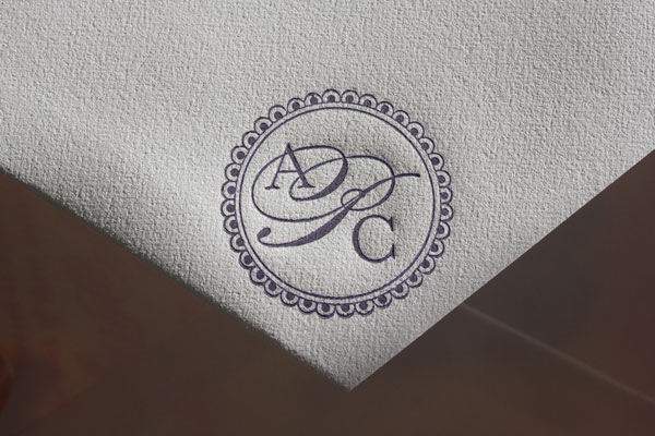 Letterpress Custom Envelope Emblem