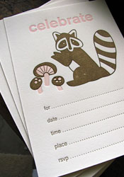 Cute Fill In Letterpress Invitations