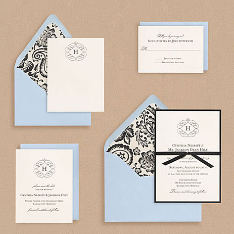 Flourish Monogram Wedding Invitations Invitation Crush – Wedding Invitation Monograms