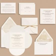 Paper Source Upper Case Cloister Wedding Invitations