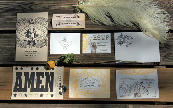 Ptarmak Design Letterpress Wedding Invitations