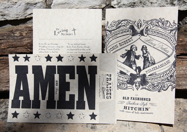 Ptarmak Letterpress Wedding Invites