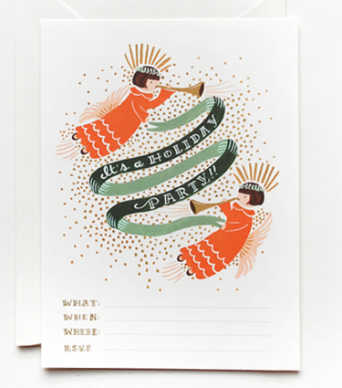 holiday party invitations from rifle paper invitation crush
