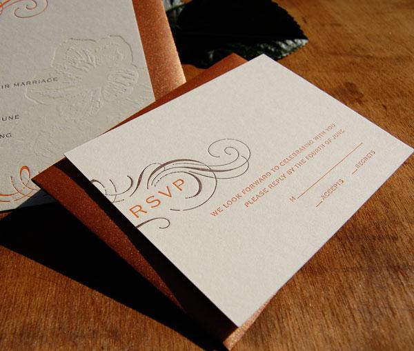 Elegant Letterpress RSVP Cards