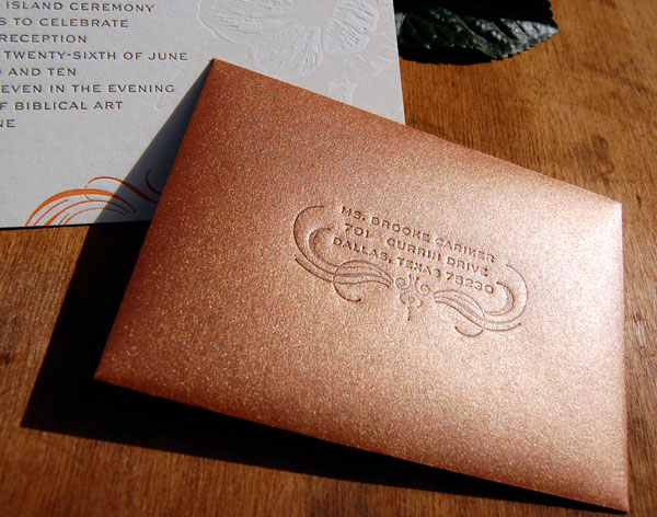 Letterpress Wedding Invitation Envelopes