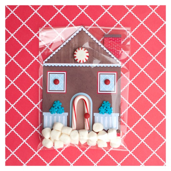 Handmade Gingerbread House Invitations