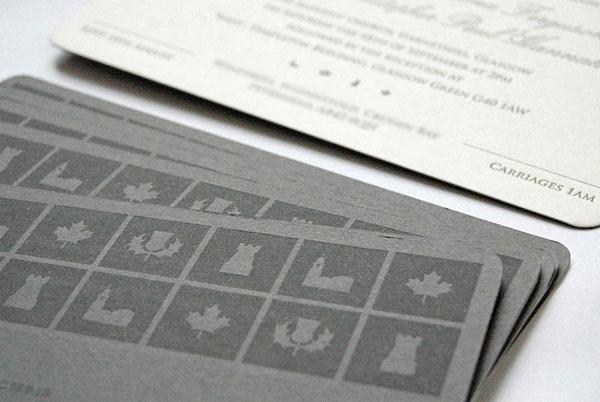 Letterpress Wedding Invites