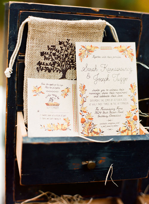 Fall Harvest Wedding Invitations