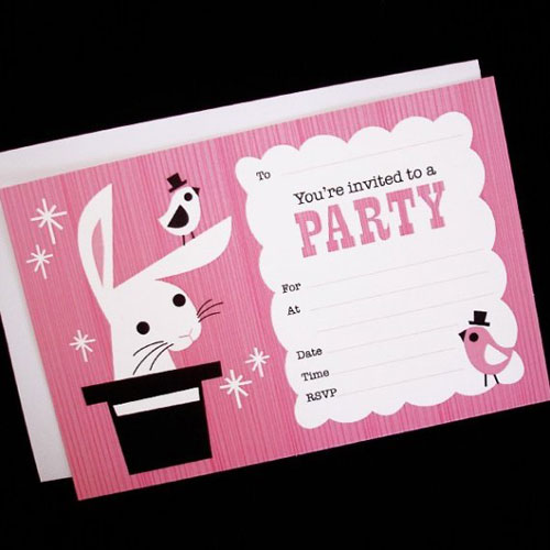 Magic Rabbit Fill In Invitations