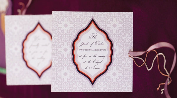 Persimmon & Plum Fall Inspired Wedding Invitations
