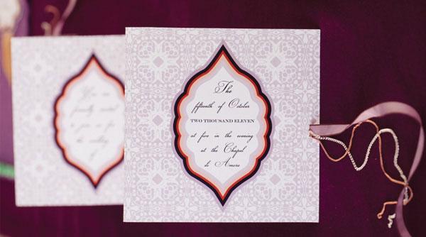 Persimmon & Plum Fall Inspired Wedding Invitations