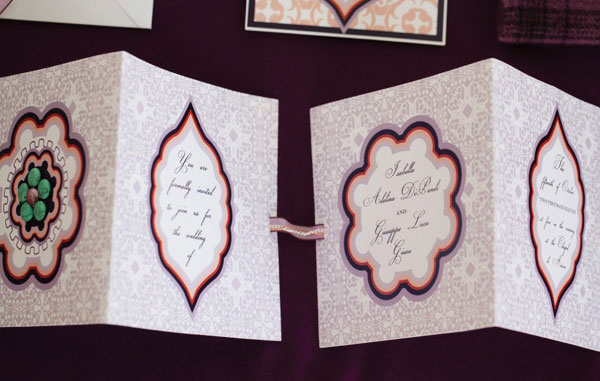 Persimmon & Plum Wedding Invitations
