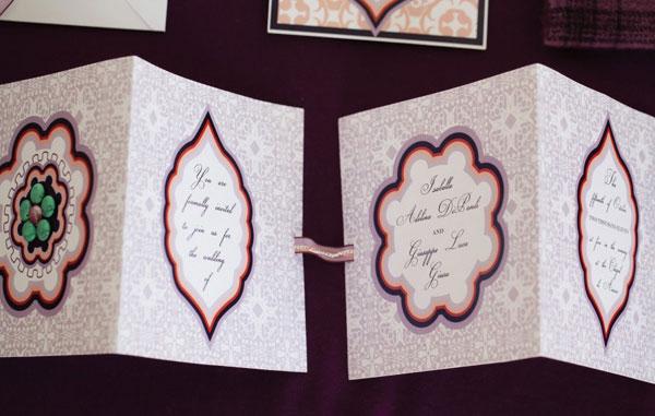 Persimmon & Plum Wedding Invitations