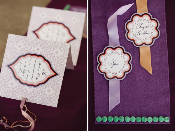 Fall Inspired Modern Wedding Invitations
