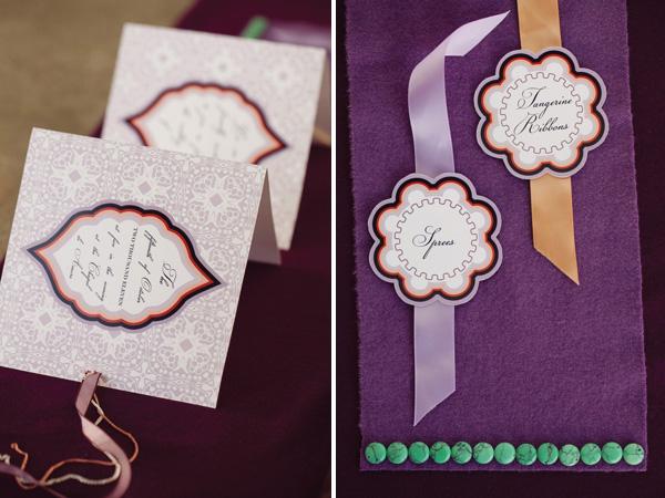 Fall Inspired Modern Wedding Invitations