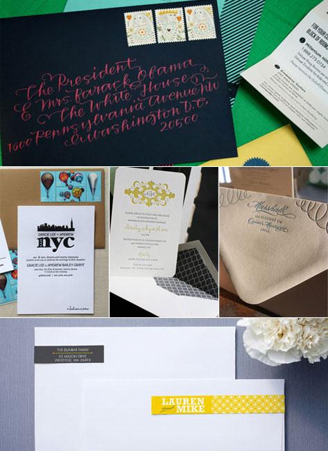 Wedding Invitation Trends Envelopes