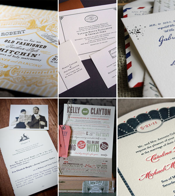 Vintage Ephemera Inspired Wedding Invitations