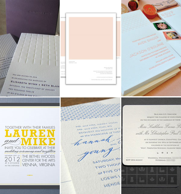 Ultra Modern Wedding Invitations